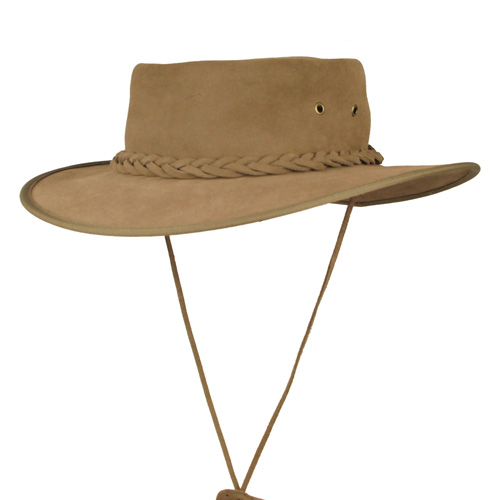 Explorer Leather Wide-brim Safari hat has all the key safari hat features, by The Safari Store