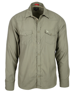 Men's Safari Shirts in Willow colour & Everyday style