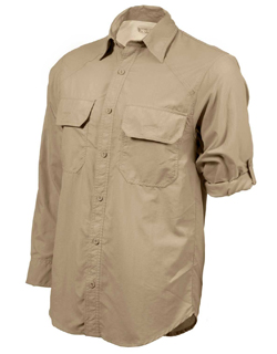 Men's Safari Shirt in Khaki & Bush shirt Explorer Style