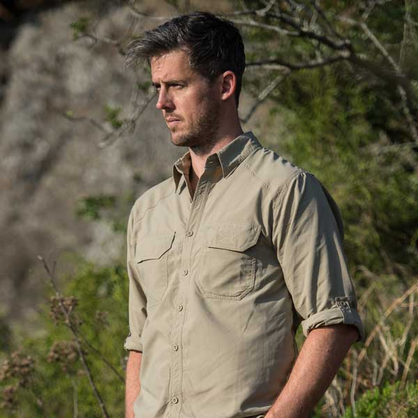 Men's Safari Shirt in Khaki