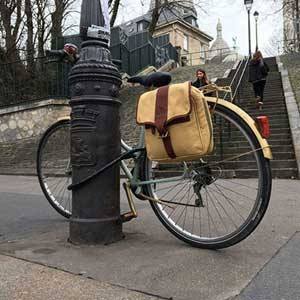 Safari luggage: safari pannier bag for bicycles. Canvas bag