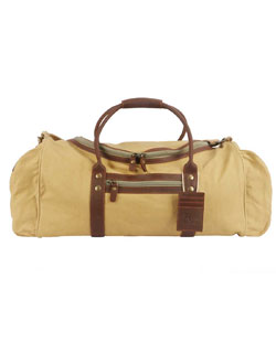 Safari Luggage Duffel in Safari-style Canvas & Leather
