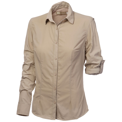 Women's safari shirt with key safari shirt features, by The Safari Store