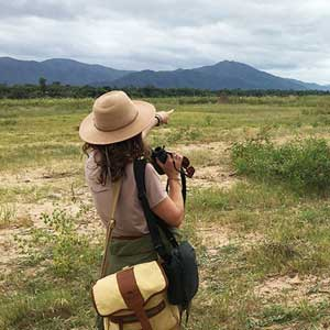 Womens safari shirt, safari hat, safari shorts, & safari satchel