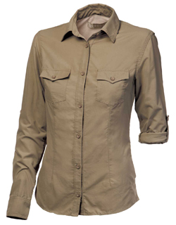 Women's Safari Shirt in Khaki colour & Pioneer Style
