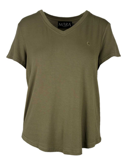 Women's Safari T-Shirt in Bushwillow colour & Serengeti Style